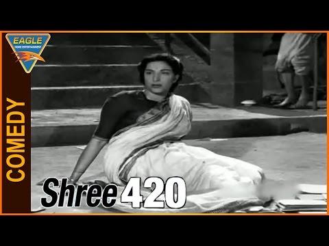 Shree 420 Hindi Movie || Nargis Funny Comedy Scene || Eagle Hindi Movies