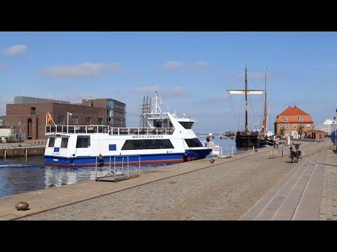 "Wismar, Germany: Alter Hafen (Old Harbor), Promenade, ""MECKLENBURG"" - 4K UHD Video Image"