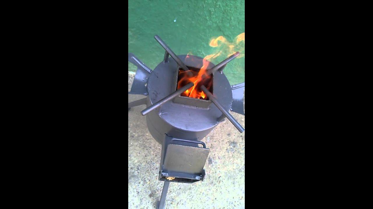 Reverbero o cocina a lea Rocket Stove Venezuela  YouTube