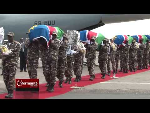 exhumed remains arrive in namibia - youtube
