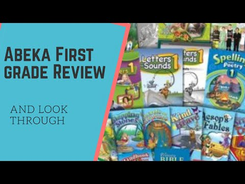 Abeka 1st grade curriculum look through and review