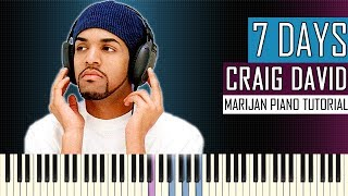 How To Play: Craig David - 7 Days | Piano Tutorial