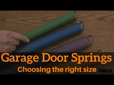 How to choose the right replacement garage door spring