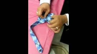 how to turn a regular tie into a bow tie