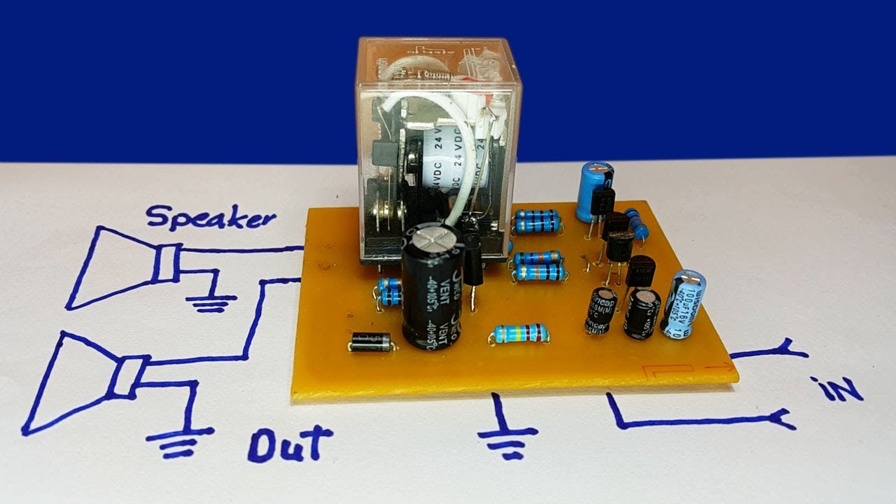 How To Make Speaker Protector Circuit With Dc Protection 100wvariableresistorsimulator Amplifiercircuit Diagram