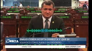Emilio Corea acepta derrota y  que se equivocó con el pueblo salvadoreño