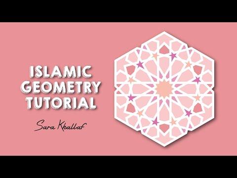 How To Draw Islamic Geometric Pattern - Illustrator Tutorial - YouTube