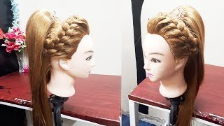 FRONT FRENCH BRAID WITH HIGH PONYTAIL ☆ PARTY HAIRSTYLE ☆ PROM HAIRDO