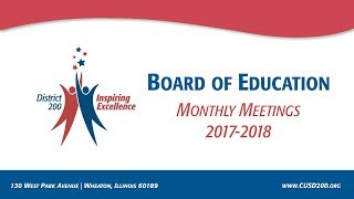CUSD200: Board of Education Meeting: May 9, 2018