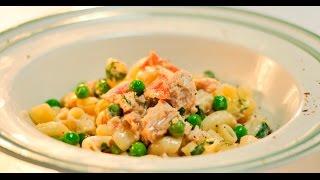 Паста с беконом и консервированным тунцом в сливочном соусе | Дежурный по кухне