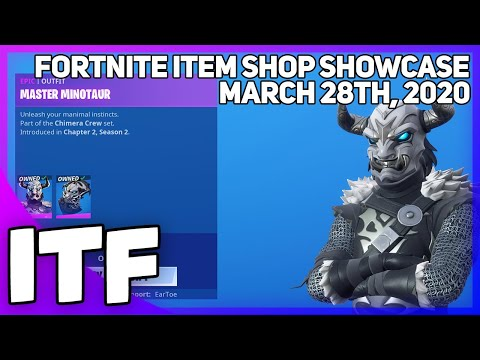 Fortnite Item Shop *NEW* MASTER MINOTAUR SKIN! [March 28th, 2020] (Fortnite Battle Royale)