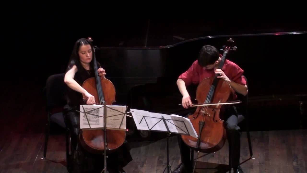 Offenbach - Duo for two cellos, op. 52, no. 3