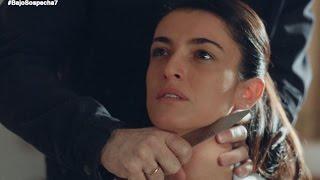 Roberto amenaza a Laura con un cuchillo - Bajo sospecha