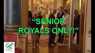 "Prince Charles Says ""stand Back' & William Tells Sussex's ""senior Members Only!'"