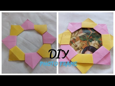 DIY: How To Make Origami Photo Frame- Tutorial- Paper Craft Easy & Simple