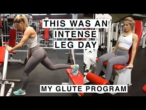 INTENSE LEG DAY + MY GLUTE TRANSFORMATION PROGRAM!