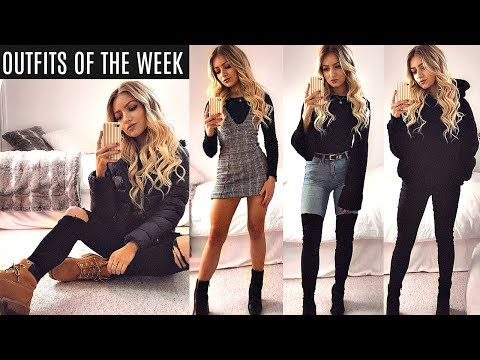 WINTER OUTFITS OF THE WEEK 2017 / EVERYDAY OUTFIT IDEAS,  LOOKBOOK