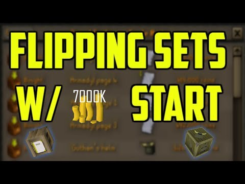 OSRS - Flipping Item Sets For One Hour With 7M Start! EASY MONEY Oldschool Runescape