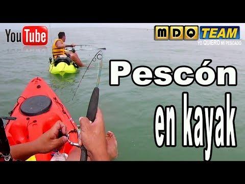 Corvinas en kayak y rubber jig