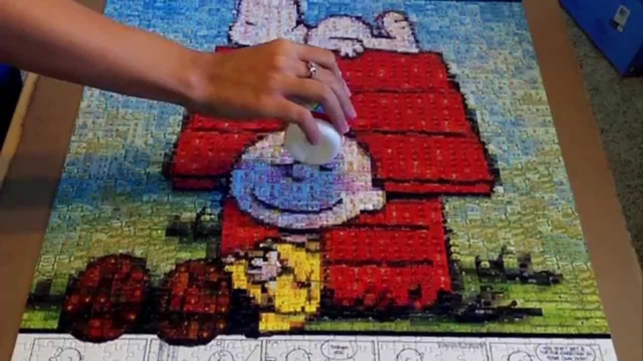 How To Use Jigsaw Puzzle Glue Youtube