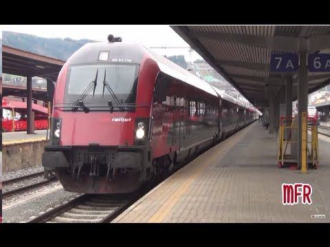 Stazione di INNSBRUCK HAUPTBAHNHOF: tra EUROCITY, RAILJET, REGIONALEXPRESS e S-BAHN!
