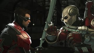 Injustice 2 : Robin Vs Deadshot - All Intro/Outros, Clash Dialogues, Super Moves