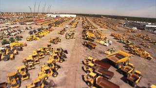 Helicopter tour over heavy equipment - the premier global auction in Orlando, FL (Ritchie Bros.)