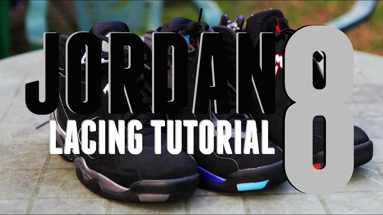 d57b7bd27437 How To Lace Jordan 8 VIII (BEST WAY) - YouTube