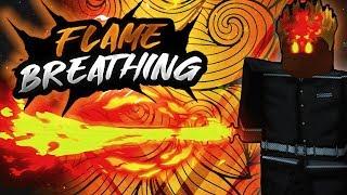 FLAME BREATHING SHOWCASE! | DEMON SLAYER | ROBLOX