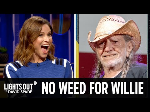 Willie Nelson Stops Smoking Weed (feat. Andrea Savage) - Lights Out with David Spade