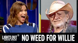 Willie Nelson Has Quit Weed (feat. Andrea Savage) - Lights Out with David Spade