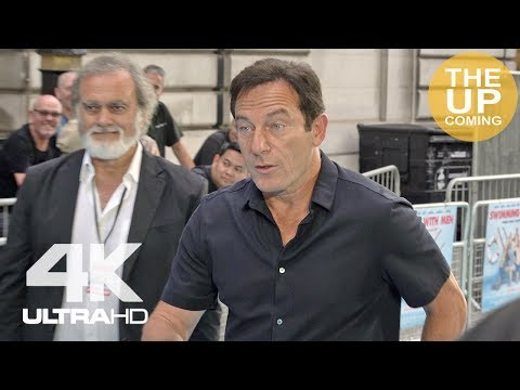 Jason Isaacs arrival at Swimming with Men premiere red carpet