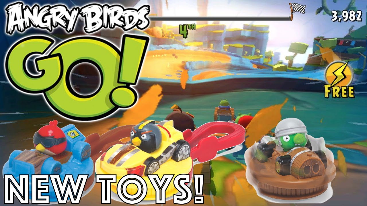 Angry Birds Go Toys : Let s play with new angry birds go stella burger king