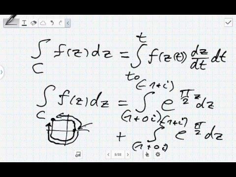 Parametrisierung Einer Kurve Mit Komplexen Zahlen Komplexes Kurvenintegral Berechnen Youtube
