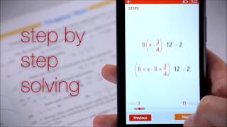 Apps Android PhotoMath -reads and solves mathematical problems.