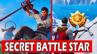 SECRET WEEK 1 BATTLE STAR LOCATION! *LOADING SCREEN* FORTNITE SEASON 7 (SNOWFALL CHALLENGES)