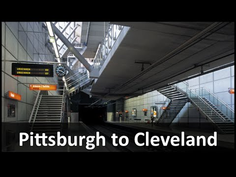 Pittsburgh To Cleveland High Speed Rail Youtube