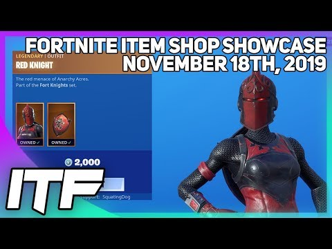 Fortnite Item Shop RED KNIGHT IS BACK! [November 18th, 2019] (Fortnite Battle Royale)