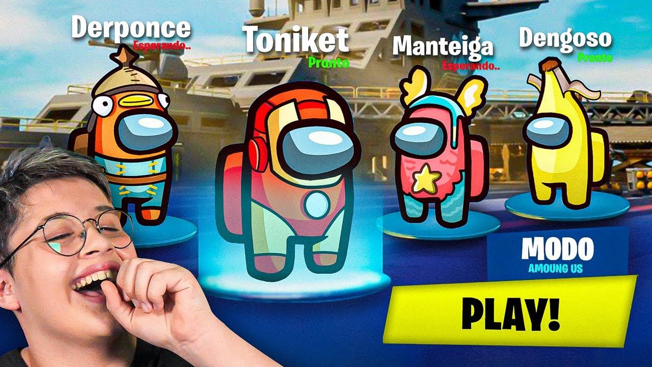 Fortnite X Among Us Ft Derponce Manteiga E Dengoso Youtube