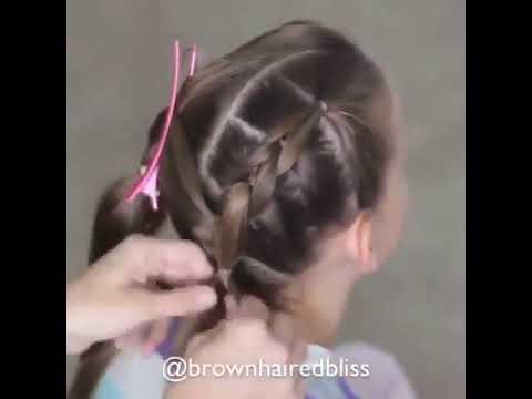 Peinado Con Cauchos Para Nina Youtube