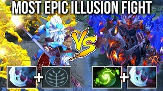 EPIC Battle 16x Illusion Phantom Cancer vs Chaos Knight Crazy Game Comeback by Badman 7.07 Dota 2
