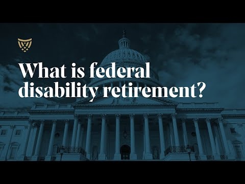 Federal Disability Retirement