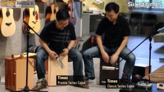 Timoz Percussion Cajon Duet - Sixstrings, Malaysia