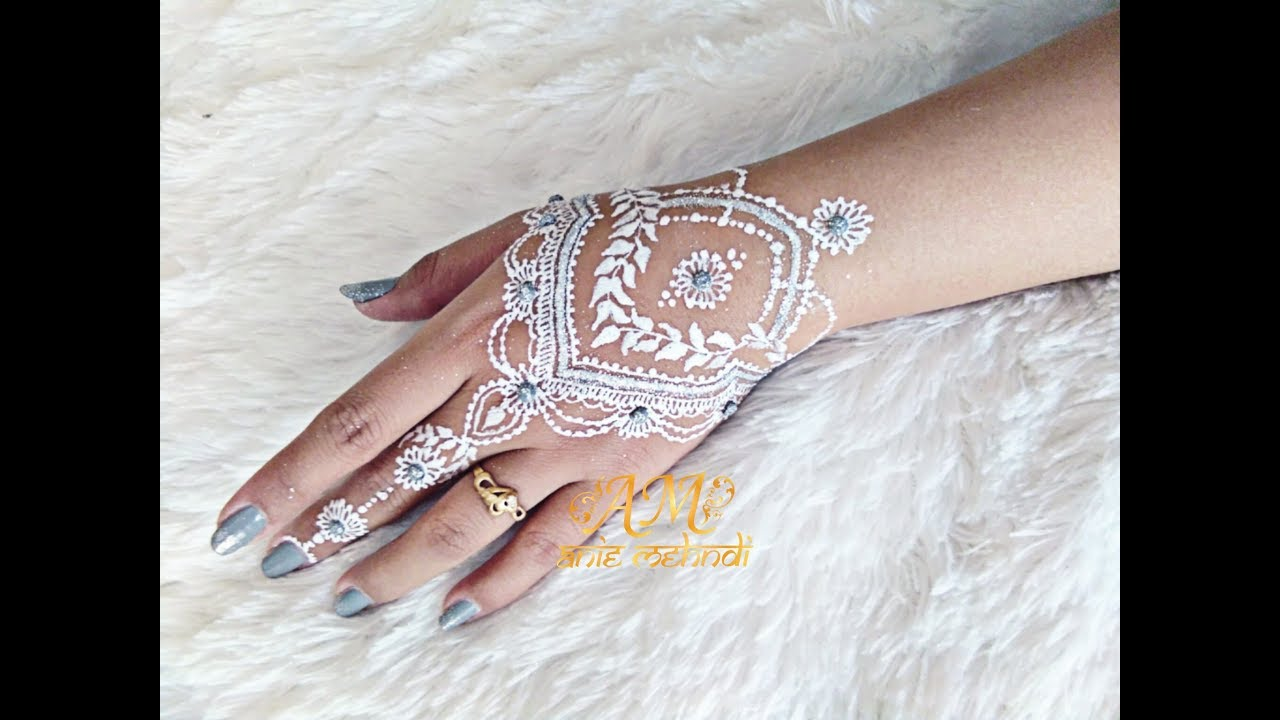 Simple White Henna Design For Wedding Easy Diy Henna 66 Youtube