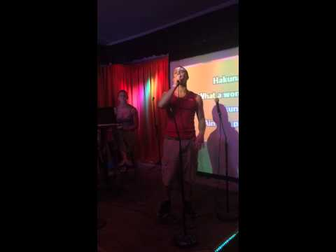 """Hakuna Matata"" Performed by David Tuttle at Karaoke Night at Life's a Beach in Kihei, HI"
