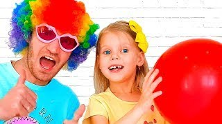 Сolors with Balloons ! Kids and daddy have fun playtime with color song !
