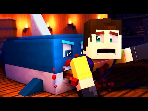 Hello Neighbor - KILLER SHARK ATTACK! (Hello Neighbor In Minecraft Roleplay)