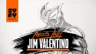 Shadowhawk Sketched By Jim Valentino | Artists Alley | SYFY WIRE