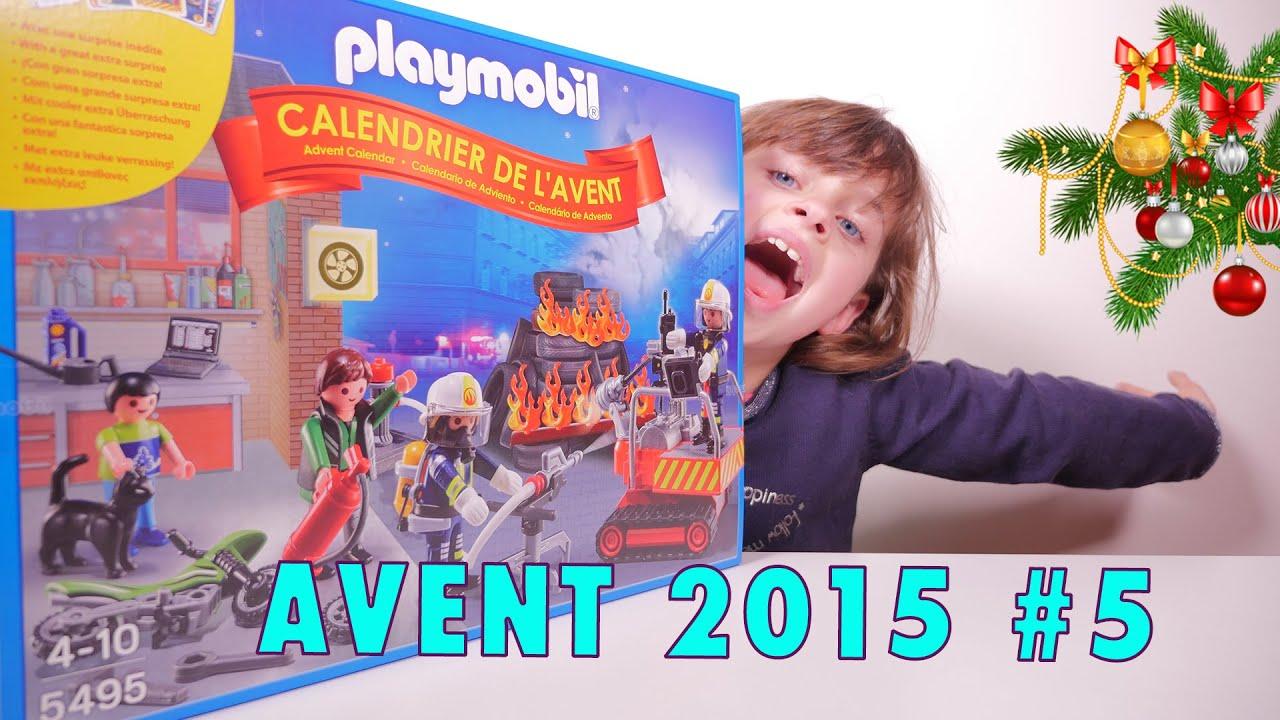 playmobil calendrier 5 de l 39 avent 2015 pompiers studio bubble tea unboxing advent calendar