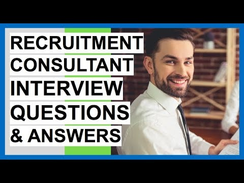 RECRUITMENT CONSULTANT Interview Questions And Answers! (Recruitment Coordinator Interview Tips!)